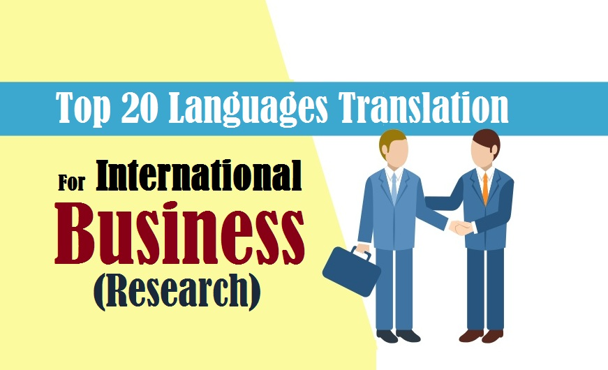 Top 20 Languages Translation for business